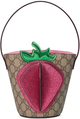 Gucci Children's GG 3-D strawberry bucket bag