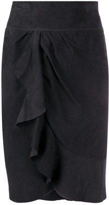 BA&SH Susette frilled skirt