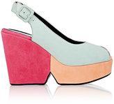 Robert Clergerie Women's Dylanam Colorblocked Suede Platform Sandals
