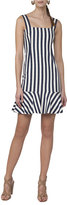 Akris Punto Sleeveless Striped Shift Dress, White Pattern