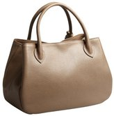 Furla taupe textured leather 'New Giselle' top handle bag