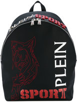 Plein Sport - logo print backpack - men - Leather - One Size
