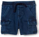 Gap Super soft denim cargo shorts