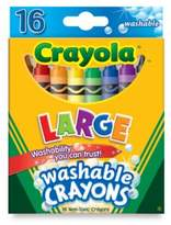 Crayola Large 16-Count Washable Crayons