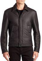 Versace Long Sleeve Textured Jacket