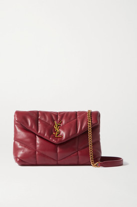 Saint Laurent Loulou Toy Quilted Leather Shoulder Bag - Red