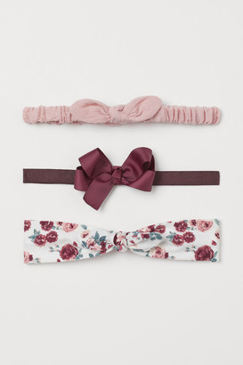 H&M 3-Pack Bow-Top Hairbands
