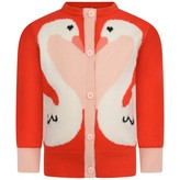 Stella McCartney KidsBaby Girls Red Swan Cardigan
