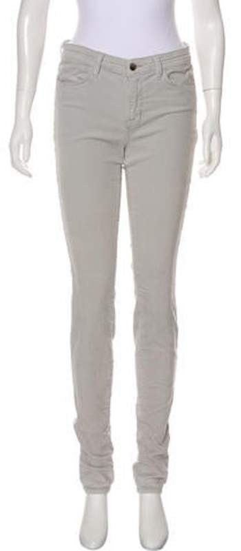 J Brand Mid-Rise Corduroy Pants Grey Mid-Rise Corduroy Pants