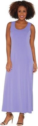 Susan Graver Liquid Knit Sleeveless Maxi Dress
