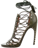 Emilio Pucci Lace-Up Leather Sandals