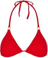 Melissa Odabash Cancun Red Triangle Bikini Top