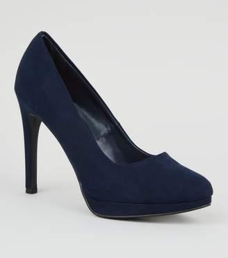 New Look Suedette Platform Court Shoes