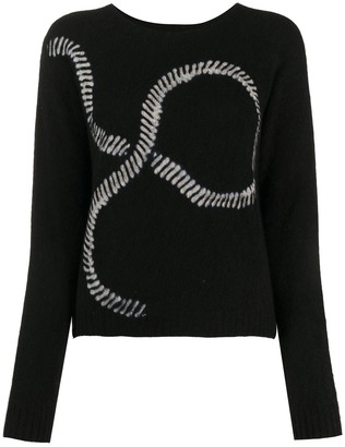 Suzusan Long Sleeve Graphic Print Jumper
