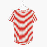Madewell Whisper Cotton Crewneck Tee in Joey Stripe