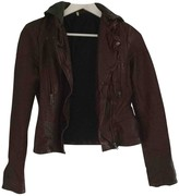 Free People Burgundy Synthetic Jackets