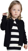 YOUJIA Unisex Cardigan Kids Solid Color O-Neck Knit Sweater Tops (120cm)