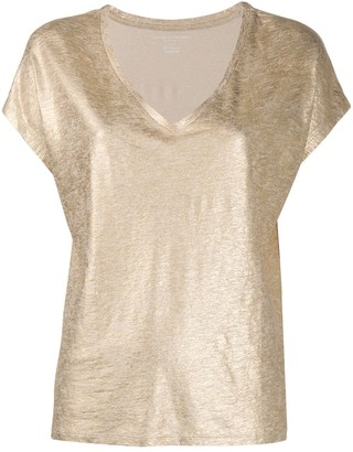 Majestic Filatures metallic v-neck T-shirt