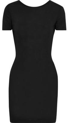 Rag & Bone Open-back Stretch-jersey And Ribbed-knit Mini Dress