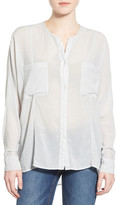 James Perse Oversize Collarless Chiffon Shirt