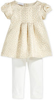 First Impressions Baby Girls' 2-Pc. Metallic Jacquard Tunic & Leggings Set, Only at Macy's