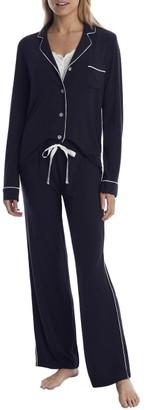 PJ Salvage Modal Black Pajama Set