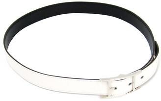 Hermes White Leather Belt 90 CM