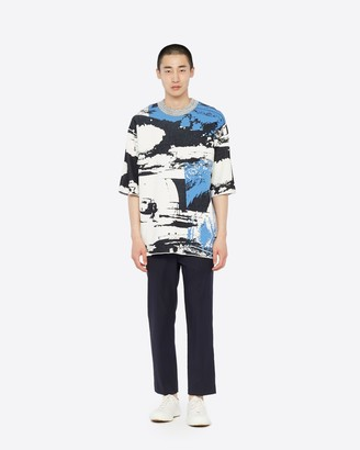 3.1 Phillip Lim Printed Ribbed Knit Sweater