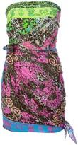 Philipp Plein scarf style minidress