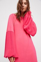 Free People Pink Star Mini Dress
