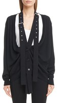 Givenchy Women's Wool & Silk Cardigan With Attached Suspenders