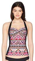 Seafolly Women's Twist Front Soft Cup Halter Tankini Swimsuit Top