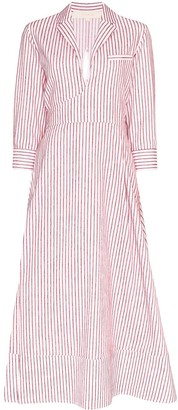 By Any Other Name Striped Midi Dress
