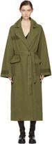 Raquel Allegra Green Oversize Duster Coat