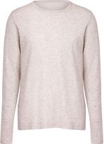 Majestic Heather Grey Round Neck Cotton-Cashmere T-Shirt