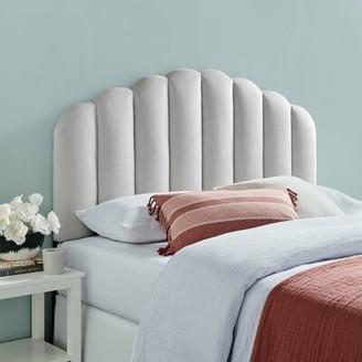 Mercer41 Halethorpe Upholstered Panel Headboard Color: Light Gray, Size: Twin