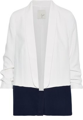Joie Lollasa B Ruched Two-tone Crepe Blazer