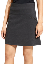 Athleta Charcoal Gray Moto Ponte Skirt