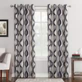 Sun Zero Burbank Geometric Ogee Watercolor Print Energy Efficient Grommet Curtain Panel