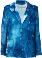 Raquel Allegra distressed tie-dye blazer - women - Silk/Rayon - 1