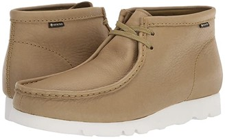 Clarks Wallabee Boot GTX (Khaki Leather) Men's Shoes