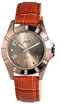 Just Watches Womens Analogue Quartz Watch with Leather Strap 48-S3928-CO