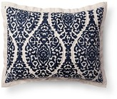 Threshold Blue Damask Linen Blend Printed Pillow Sham