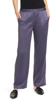 Eileen Fisher Pull-On Straight Leg Recycled Polyester Pants