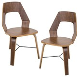 Lumisource Trilogy Mid Century Modern Chairs - Walnut (Set of 2)