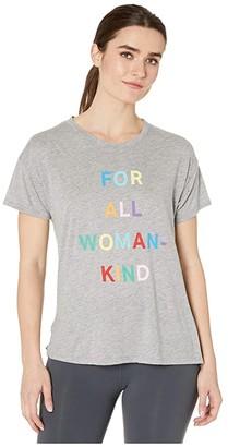 good hYOUman Brice For All Woman Kind Tee (Light Heather Grey) Women's Clothing