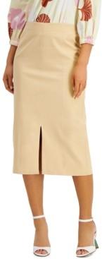 Alfani Slit-Front Midi Skirt, Created for Macy's