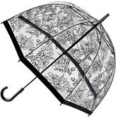 Fulton Birdcage Floral Umbrella, Clear/Black