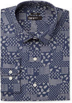 Bar III Men's Slim-Fit Stretch Easy Care Patchwork Print Dress Shirt, Only at Macy's