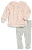 Splendid Infant Girl's High-Pile Fleece Pullover Sweatshirt & Leggings Set